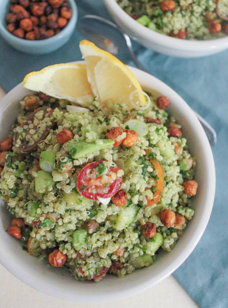 Spring Quinoa With Chickpeas, Asparagus, And Fresh Peas Recipes ...