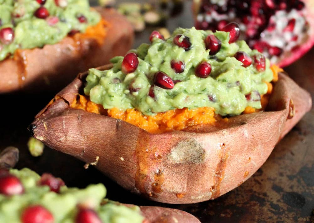 Chipotle-Mashed-Sweet-Potatoes-Stuffed-with-Superfood-Pomegranate-Pistachio-Guacamole-6