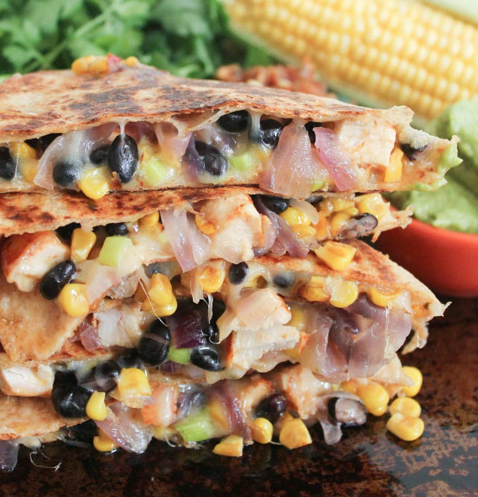 Spicy-Chicken-Quesadillas-with-Corn-Black-Beans-and-Caramelized-Onions-2