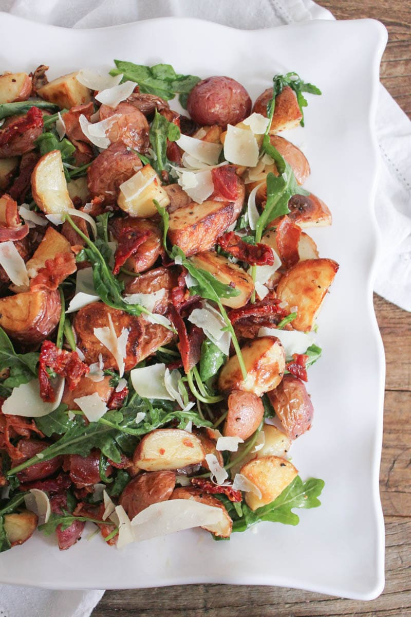 warm-roasted-potato-salad-with-pancetta-sun-dried-tomatoes-and-arugula